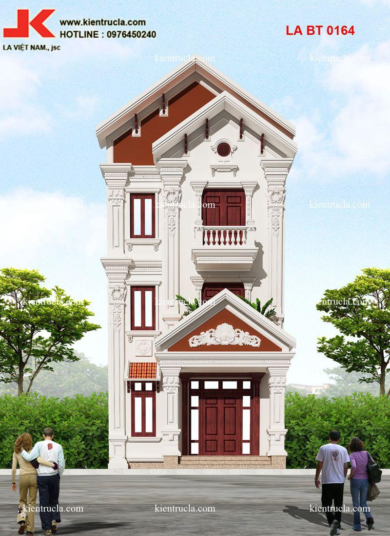 biệt thự 3 tầng hiện đại mặt tiền 7m góc 1