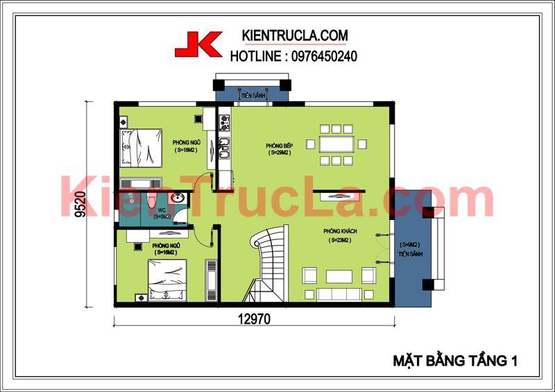 biệt thự 2 tầng kiểu pháp bt148 góc 2