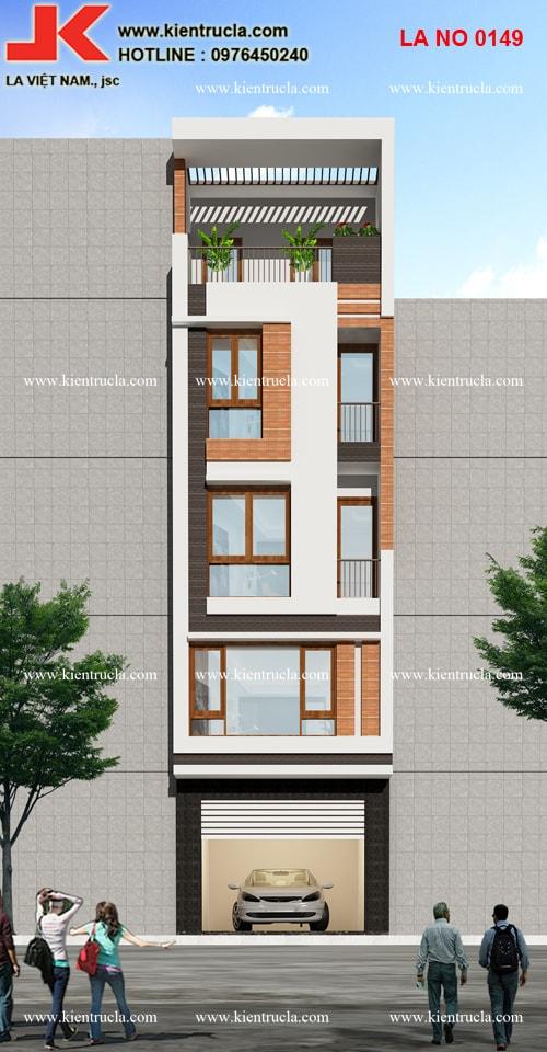 nhà ống 5 tầng hiện đại 149b