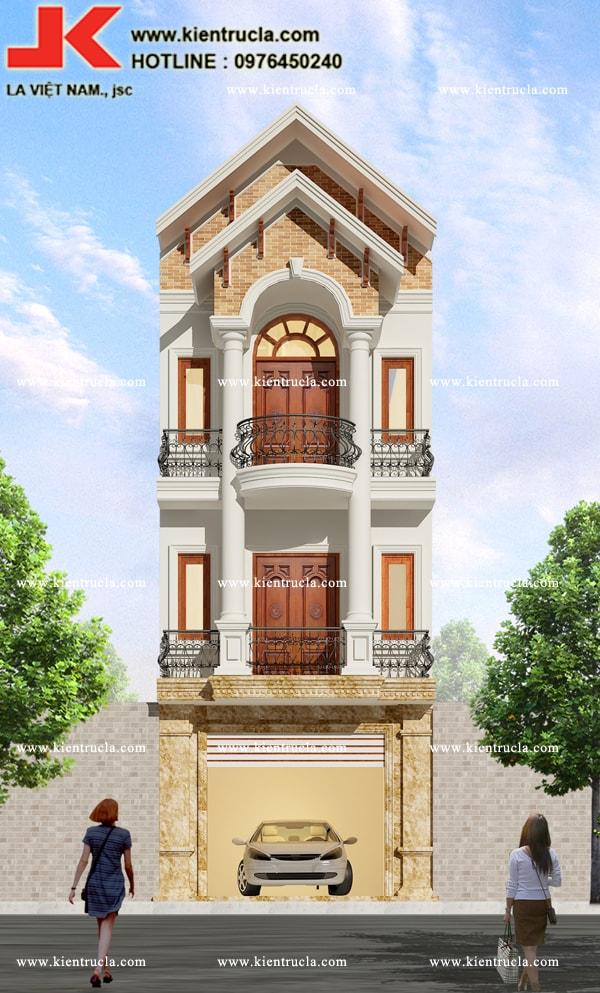 nhà phố 3 tầng cổ điển siêu sang