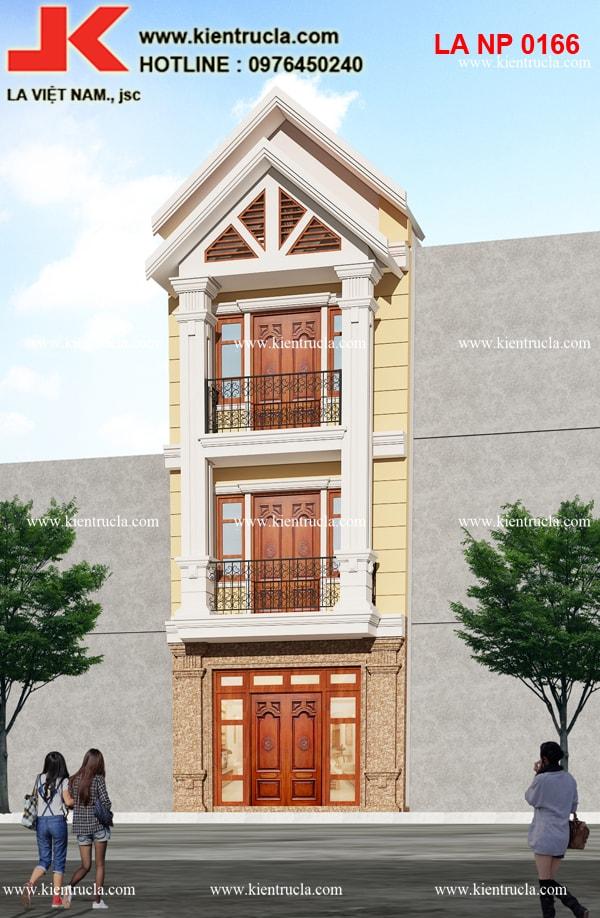 nhà phố 3 tầng cổ điển sang trọng