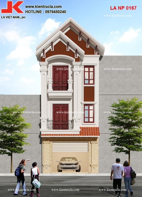 nhà phố 3 tầng cổ điển pháp