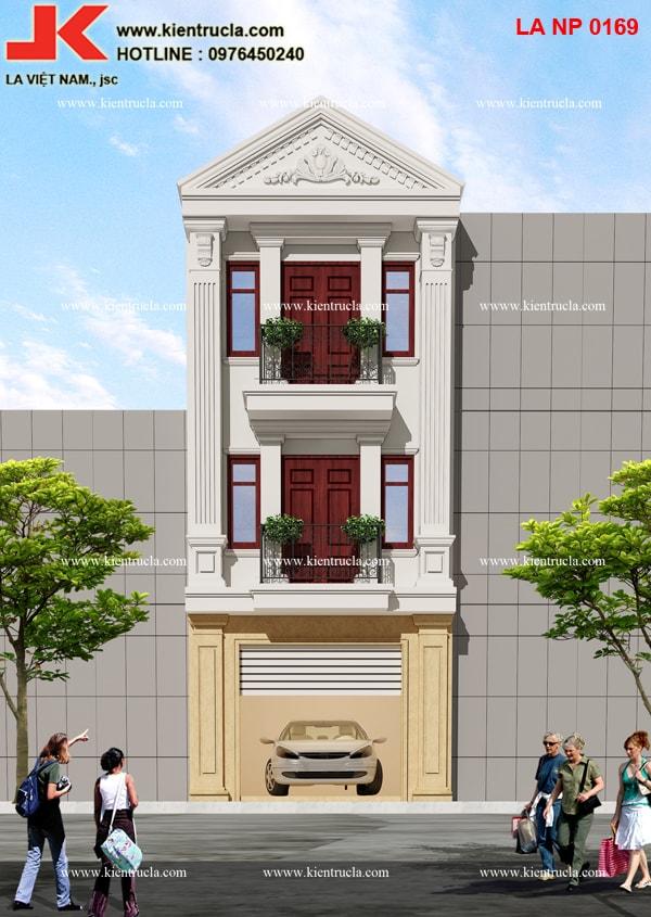nhà phố 3 tầng cổ điển