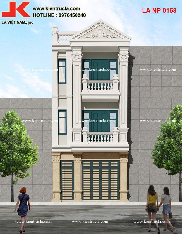 nhà phố 3 tầng pháp cổ điển
