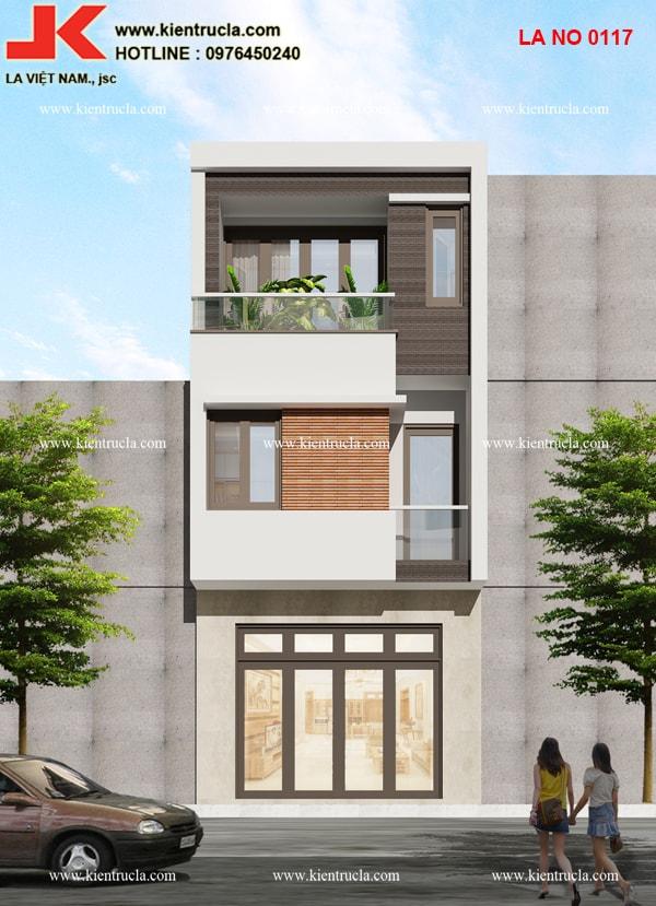 nhà phố 3 tầng hiện đại ở Vĩnh Phúc