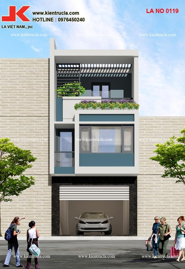 Nhà phố 3 tầng hiện đại nhà ông Lâm