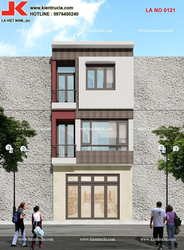 Nhà phố 3 tầng hiện đại nhà bà Mỹ