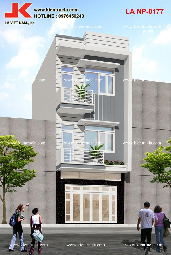 nhà phố 3 tầng hiện đại nhà ông LAm 1