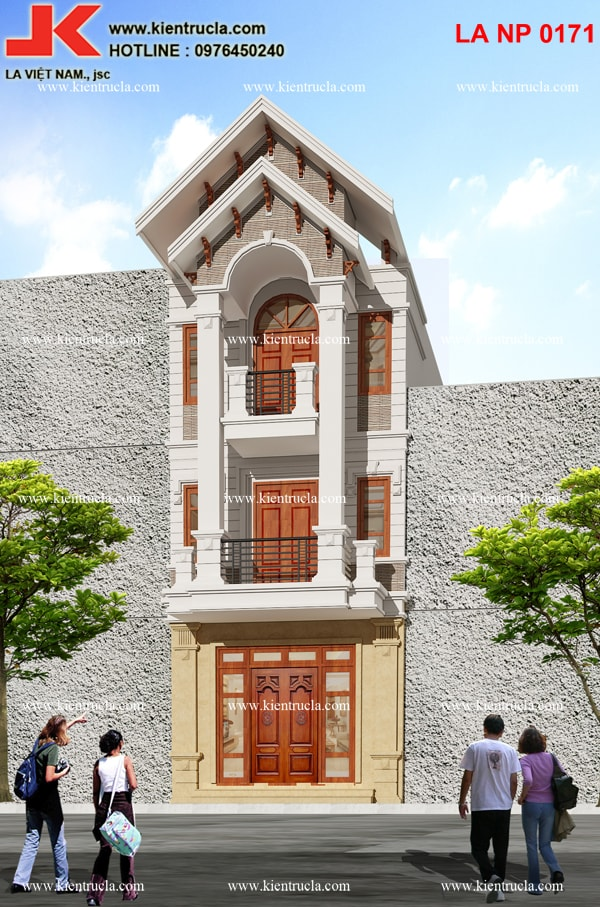 nhà phố 5 tầng pháp cổ điển