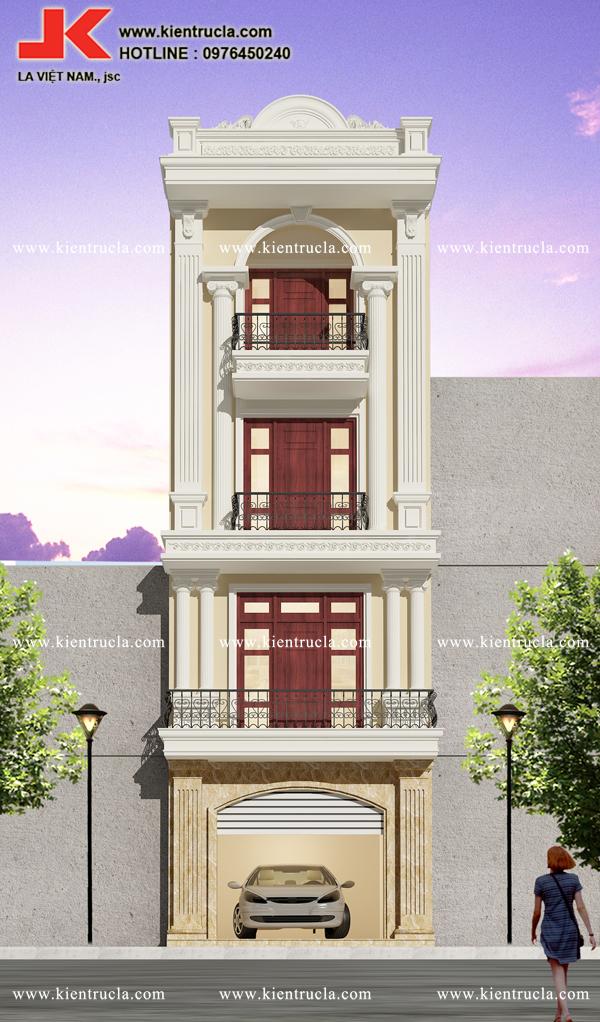 nhà phố 4 tầng cổ điển sang trọng