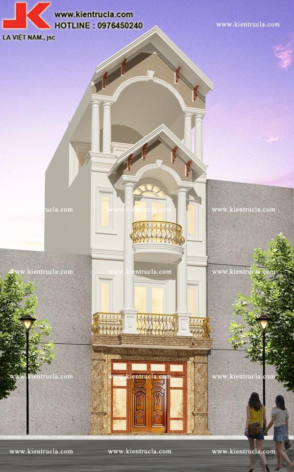 nhà phố 4 tầng cổ điển siêu sang