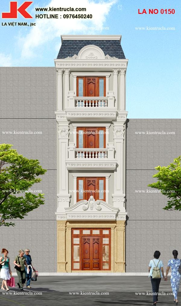 nhà phố 3 tầng cổ điển siêu đẹp