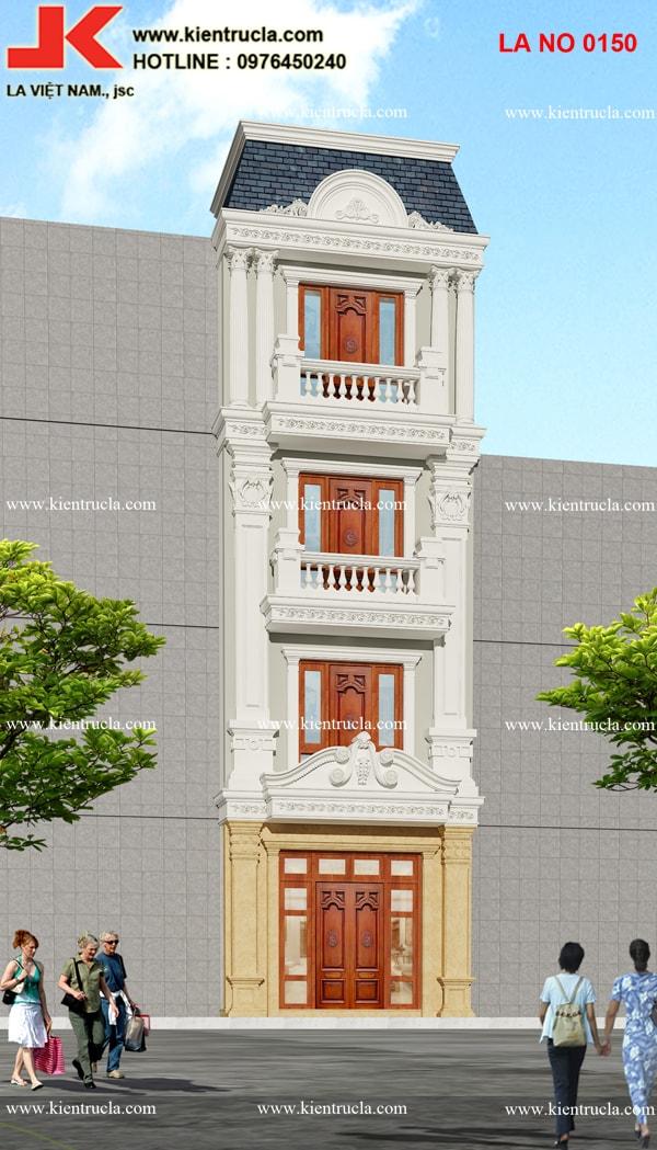 nhà phố 4 tầng cổ điển đẹp