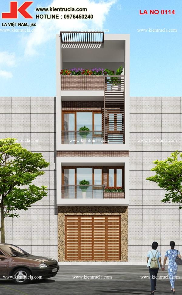 nhà phố 4 tầng hiện đại đẹp