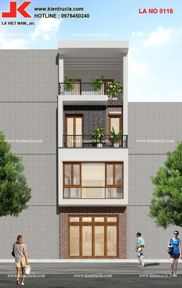 nhà phố 4 tầng hiện đại mẫu 116b góc 2
