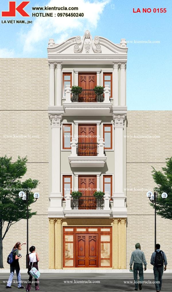 nhà phố 4 tầng pháp 155b