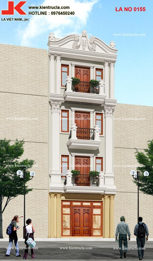 nhà phố 4 tầng pháp 155