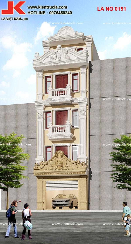 mẫu nhà phố 5 tầng cổ điển