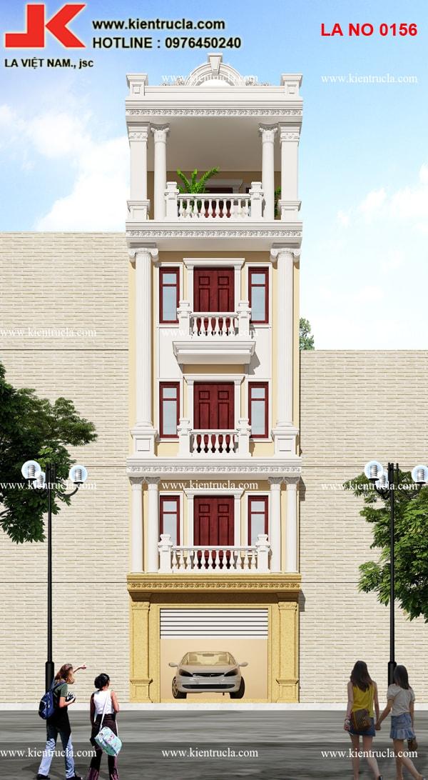 nhà phố 5 tầng cổ điển siêu đẹp