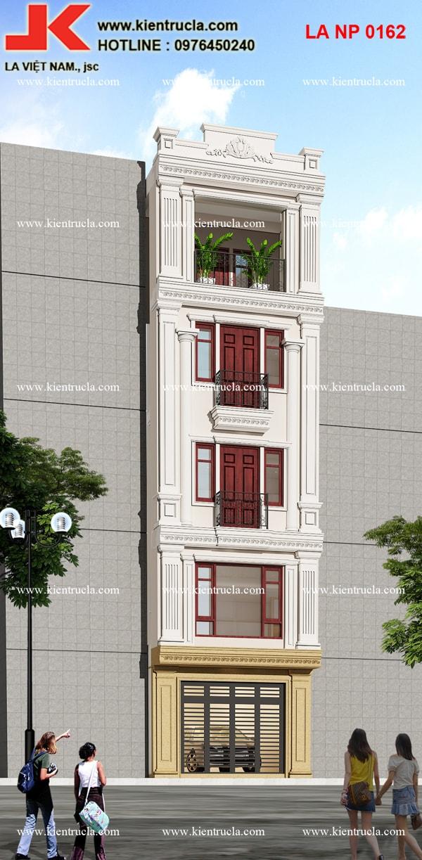 nhà phố 5 tầng cổ điển