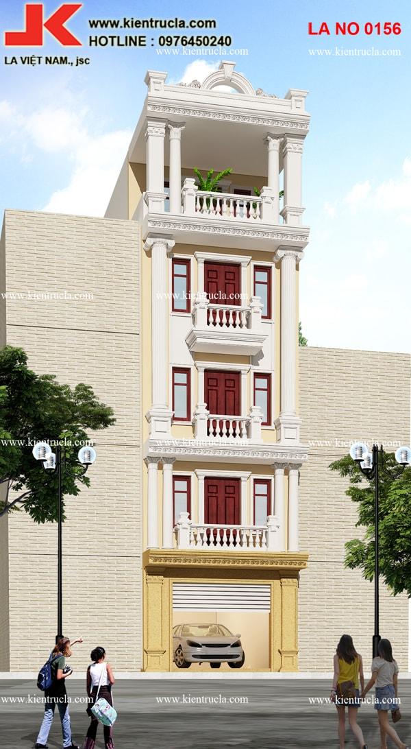 nhà phố 5 tầng pháp