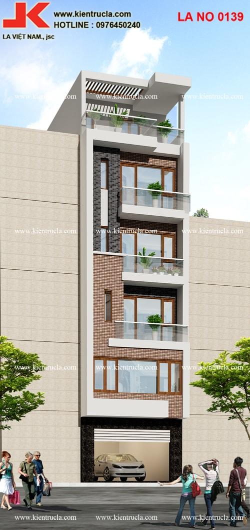nhà phố 6 tầng hiện đại