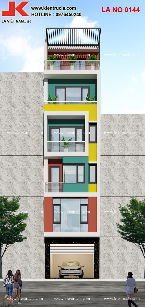 nhà phố 6 tầng hiện đại đẹp