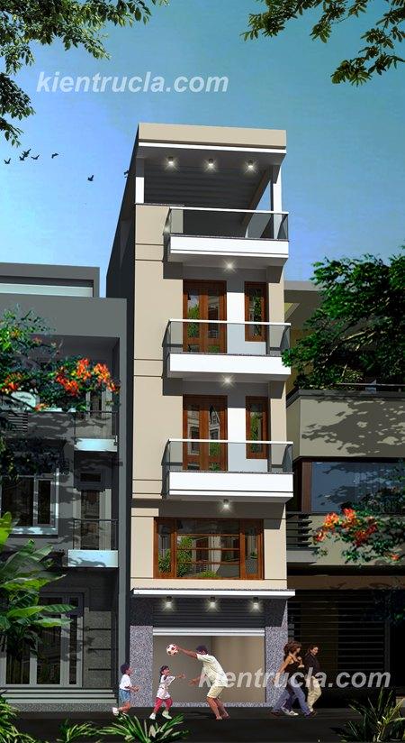 mẫu nhà phố 4 tầng hiện đại no59j