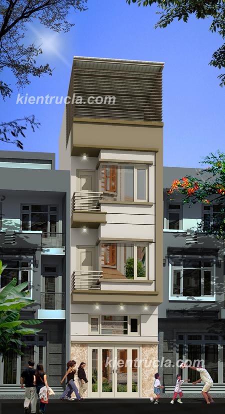 Tư vấn thiết kế kiến trúc nhà đẹp xây nhà 3 tầng 1 tum
