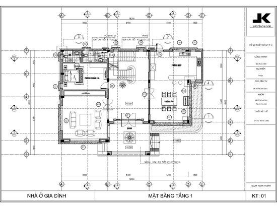mặt bằng biệt thự 3 tầng đẹp mb01