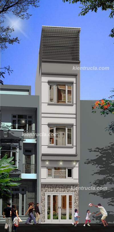 Tư vấn thiết kế kiến trúc nhà đẹp nhà 4 tầng có tầng lửng trên đất 5m x 10m