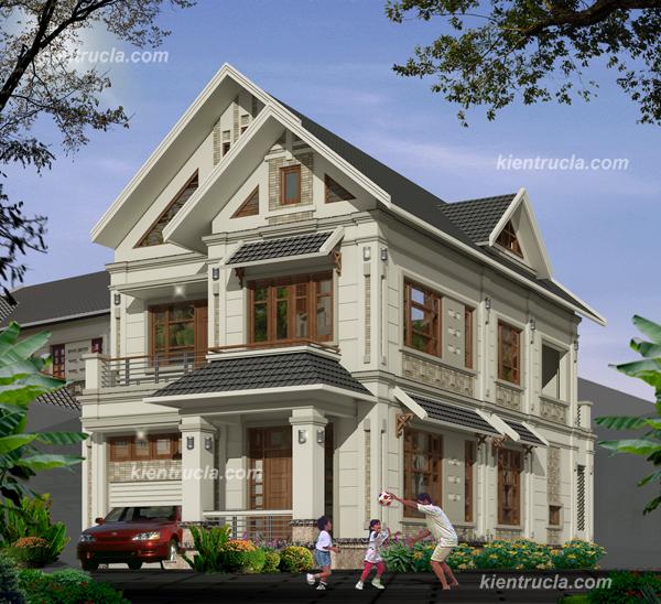 Thiết kế nhà đẹp nhà hướng bắc, diện tích 8,9x27m