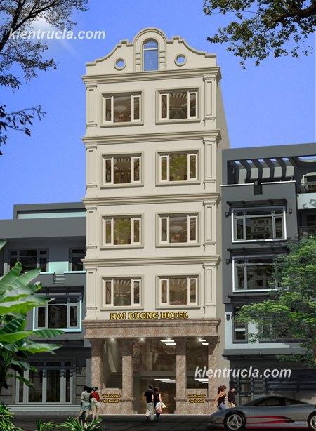 mẫu khách sạn 6 tầng tân cổ điển ks01