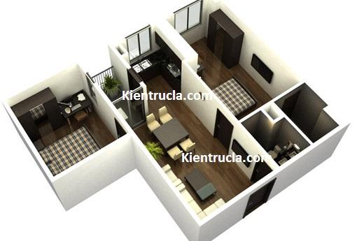 Mẫu thiết kế nhà chung cư hiện đại tại Hà Nội