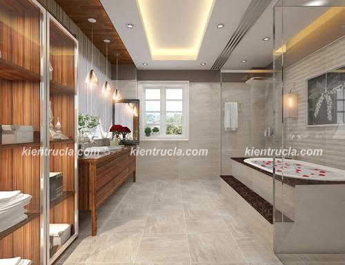 Tư vấn thiết kế nội thất phòng tắm cho con trai