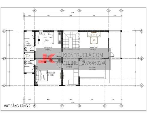 mặt bằng biệt thự 2 tầng hiện đại bt61