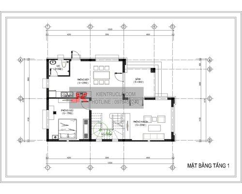 mặt bằng biệt thự 3 tầng - bt10