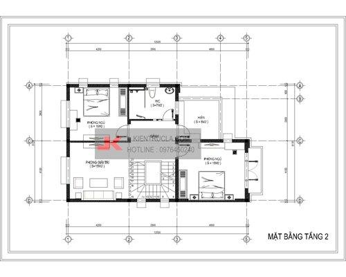mặt bằng biệt thự 3 tầng - bt11
