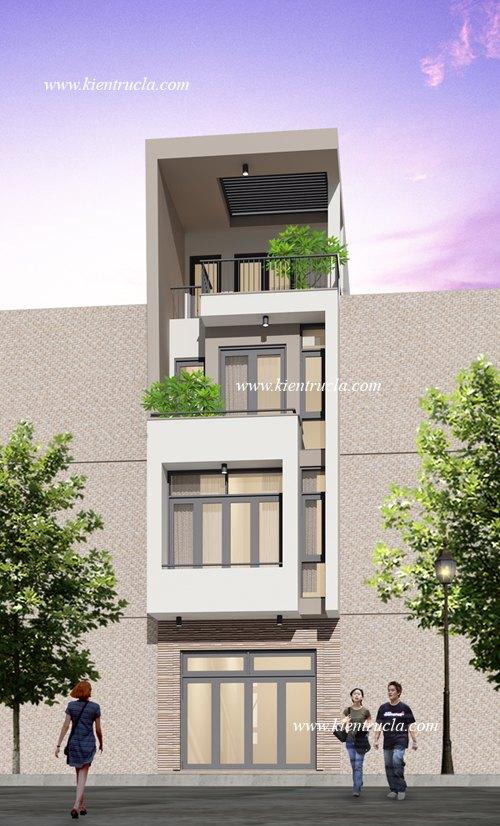 Đây là mẫu thiết kế nhà phố hiện đại đẹp 4 tầng đang khá thịnh hành ở nhiều khu vực thành thị hiện nay.