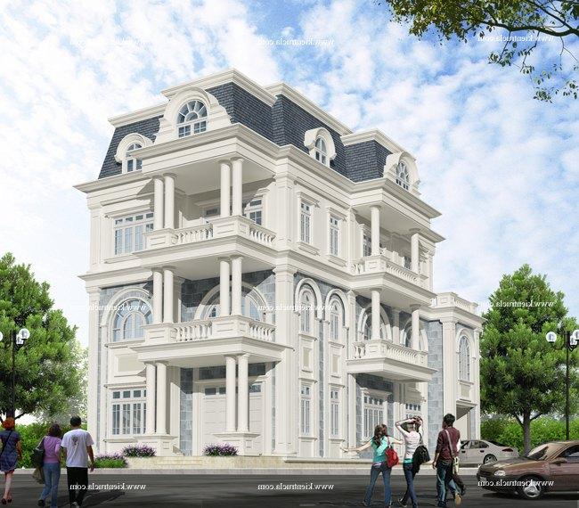 Thiết kế biệt thự vườn 4 tầng Nhà Ông Lực