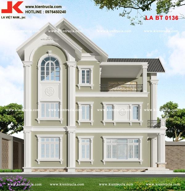 Biệt thự 2 tầng kiểu pháp bt136c 1