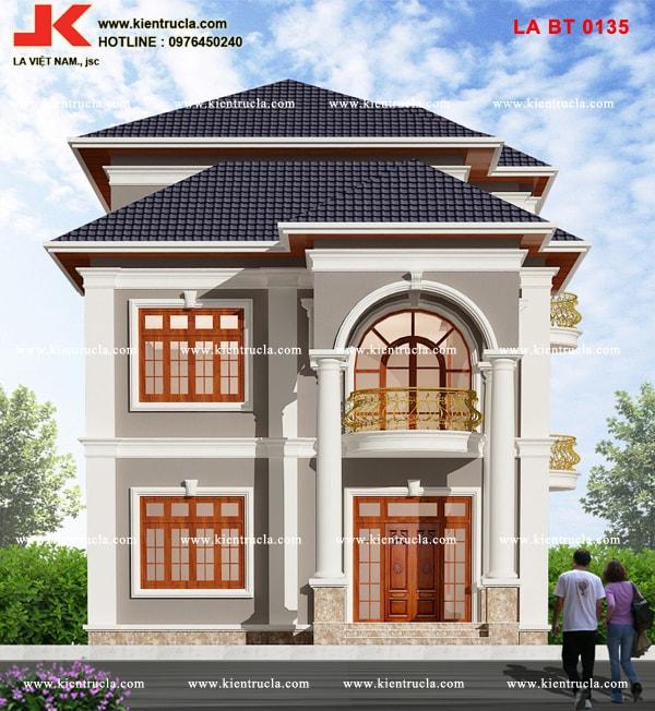 Biệt thự 3 tầng tân cổ điển bt135 goc 1